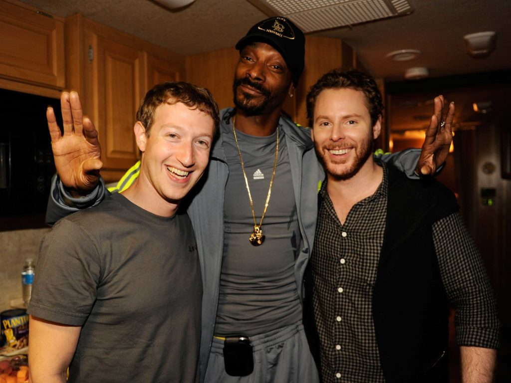 Sean parker & mark zuckerberg
