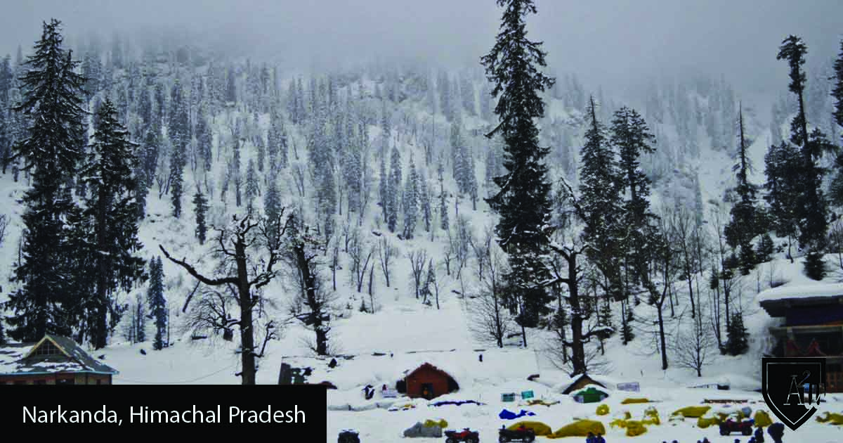 10 Best Places to See Snow in India shimla narkanda