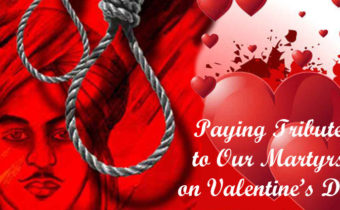 Valentine's Day or Death Anniversary of Bhagat Singh ji? There's something wrong!