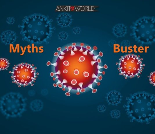 Corona Covid-19 Myth Buster by Ankit2World Blogger India