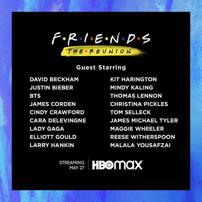 Friends Reunion guest list - Ankit2World